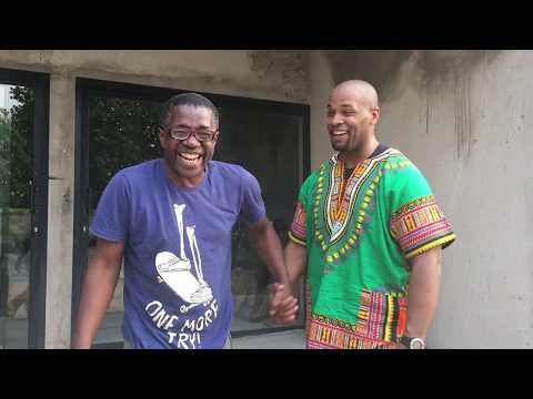 Omar Wilks meets with a gifted artist Joel Mpah Dooh of Douala Cameroon