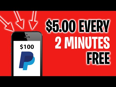 Earn $5.00 Every 2 Minutes In FREE PayPal Money! (Make Money Online)