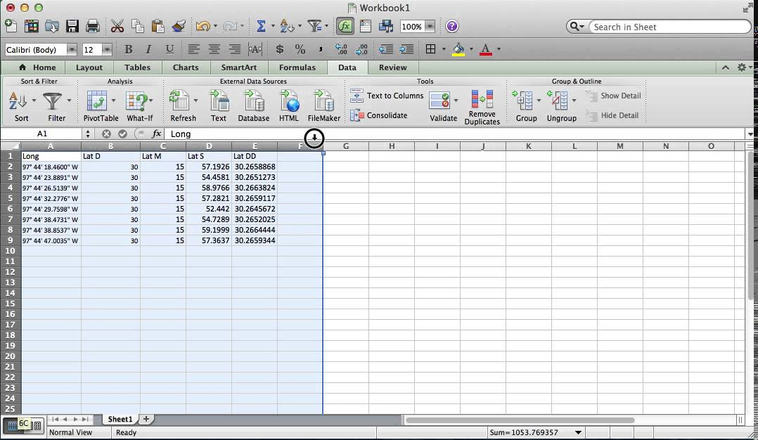 degrees in excel  How to Convert Lat Long in DMS to Decimal Degrees in Excel - YouTube