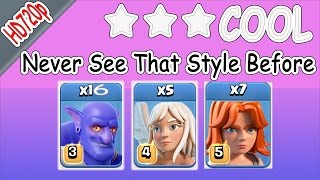 COC 3 star th11 Impossible Strategy attack 16 Bowler 7 valkyries, Lavaloon Destroy Ring base