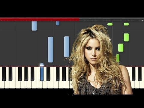 Shakira Me Enamore piano midi tutorial sheet partitura cover app karaoke