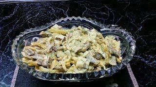Готовим салат из свиного сердца!!!!