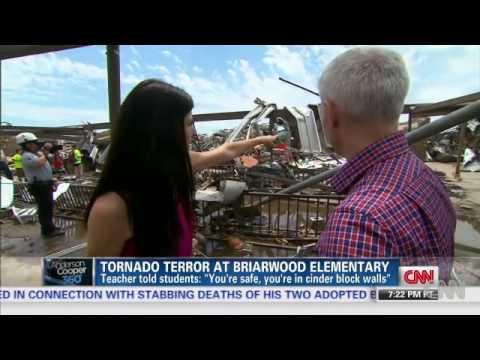 Moore, Oklahoma May 20, 2013- Briarwood Classroom tornado filmed by a teacher as it happened