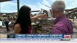 Moore, Oklahoma May 20, 2013- Briarwood Classroom tornado filmed by a teacher as it happened
