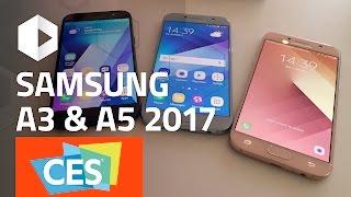 SAMSUNG Galaxy A5 y A3 (2017). Primeras impresiones #CES 2017