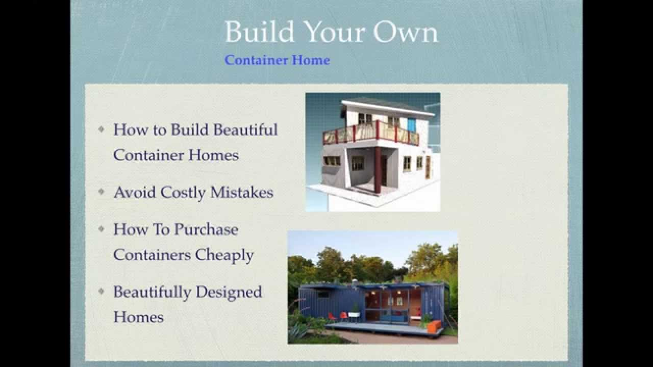 Build Your Own Container Home Exciting New Plans Youtube: build your own container home