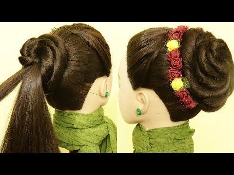 beautiful-high-bun-juda-hairstyle-|-wedding/party-bun-juda-hairstyle-|-juda-|-kgs-hairstyles