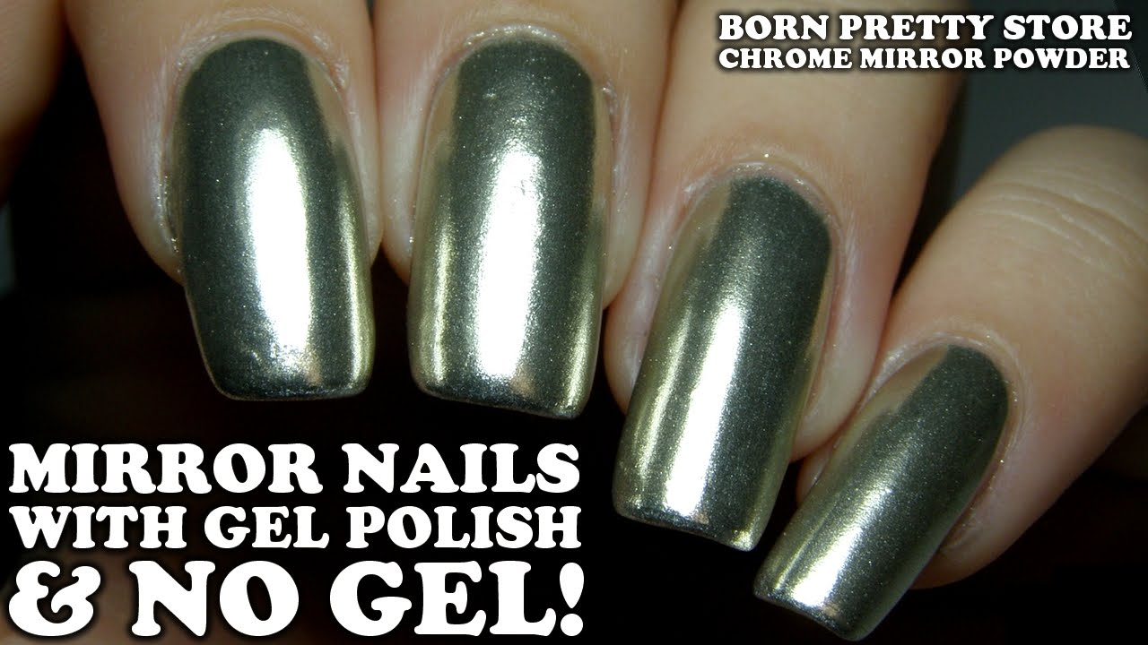 Chrome Mirror Nails Video Tutorial With Born Pretty Store