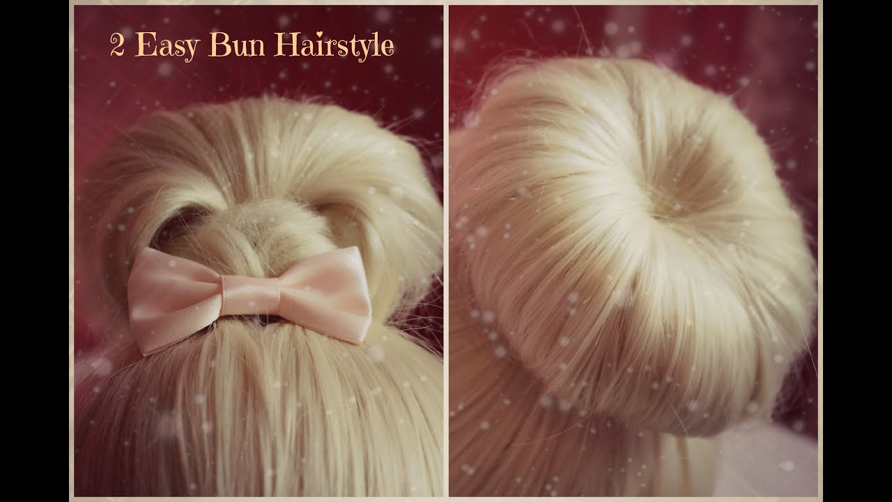 2 easy hairstyles - christmas holiday hair tutorial - cute and