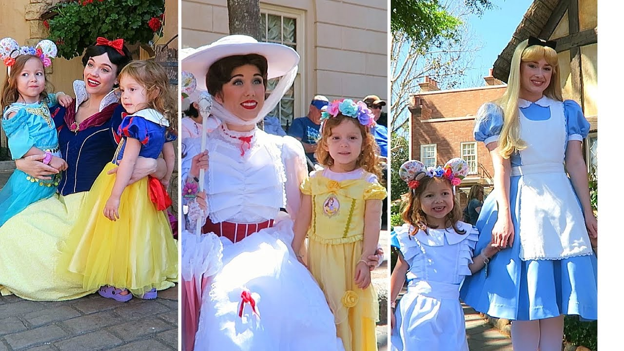Disney Princess Meet And Greets Epcot Youtube