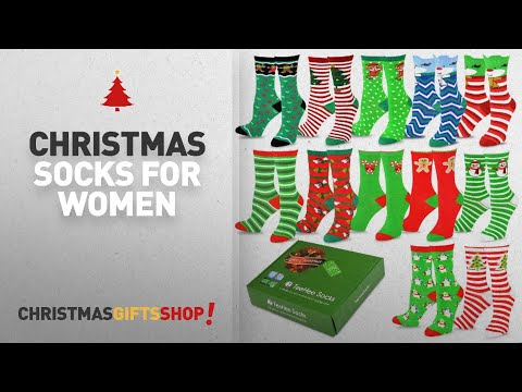 Top Christmas Socks For Women Ideas: TeeHee Christmas Holiday 12-Pack Gift Socks for Women with Gift