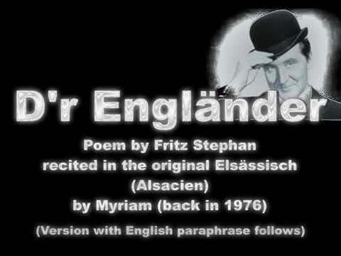 Dr Engländer vun Fritz Stephan - followed by version with rhyming English paraphrase .wmv