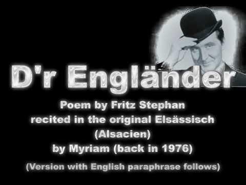 Dr Engländer vun Fritz Stephan - followed by version with rhyming English paraphrase .wmv