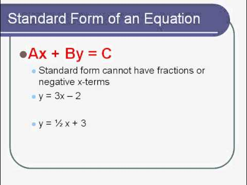 Math 1 Lesson 3 1 Standard Form Of Linear Function And X Y