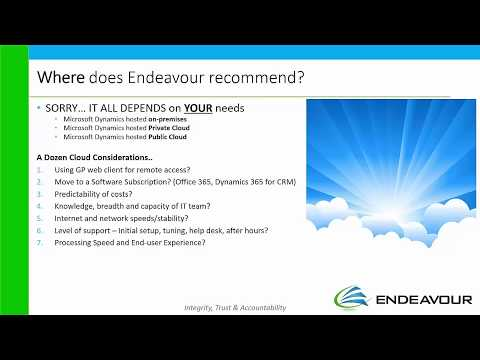 Microsoft Dynamics Private Cloud Canada for GP ERP and CRM