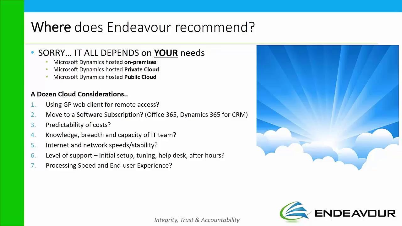 Dynamics ERP Cloud Hosting for Microsoft Dynamics GP and NAV