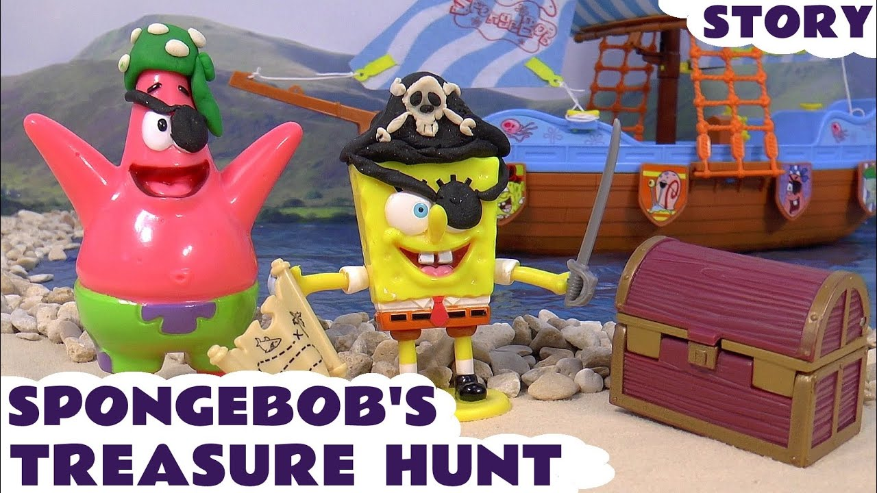 Toys Treasure Boat : Spongebob pirate ship treasure hunt toy story surprise