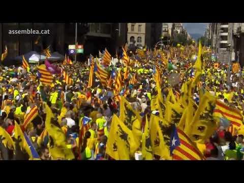 El centro de Barcelona se llena para la Diada de 2017