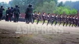 [North Korea Video Report] Parade Drill by Female Students