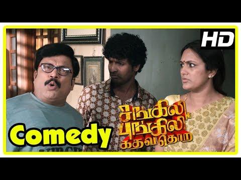 Sangili Bungili Kadhava Thorae Comedy Scenes   Part 2   Jiiva   Soori   Sridivya   Thambi Ramaiah