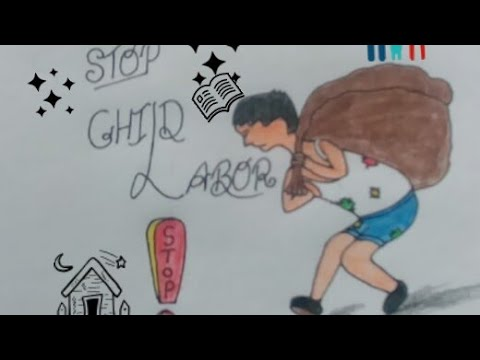 specially child labor painting for kids   easy and simple ...