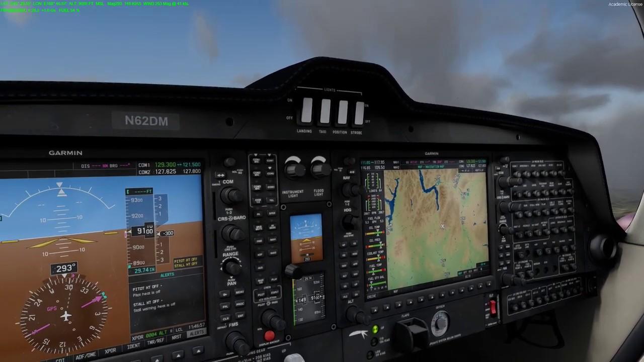 Prepar3d v4 5 HF1 Vertx Diamond DA 62 showing wing flex while flying in New  Zealand