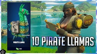 FORTNITE STW: OPENING 10 PIRATE LLAMAS & SEEING NEW WEAPON PERKS!