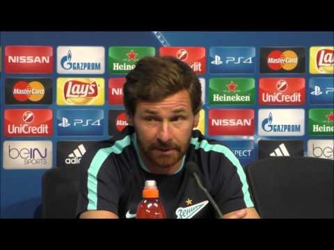 Villas Boas rueda de prensa Champions League 2015 16 Valencia CF Zenit