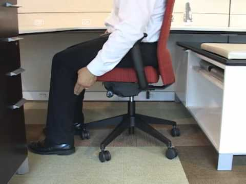 allsteel access chair kneeling office with back support scout adjustments youtube