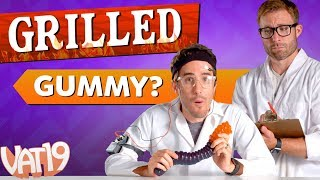Another Burning Questions video from Vat19 starring the World's Largest Gummy Worm. Buy here: ...