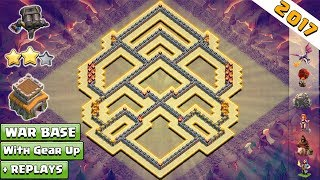 UPDATED COC Town Hall 8 War Base With Double Cannon + REPLAYS ♦ Anti 3 Star TH8 War Base anti everyt