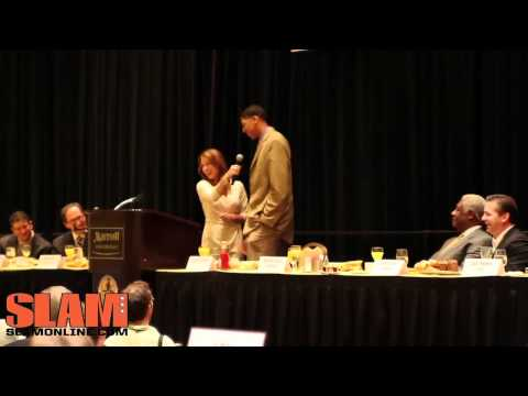 Anthony Davis Interview at Player of the Year Award Breakfast - Oscar Robertson Award