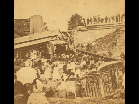 3D Stereoscopic Photographs of a Deadly Train Derailment in Bangor, Maine (1871)