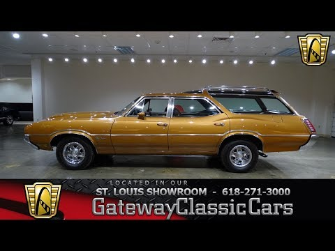 1971 Oldsmobile Vista Cruiser Wagon Stock #7593 Gateway Classic Cars St. Louis Showroom