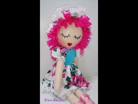 Como fazer boneca de pano Nina-Com Molde