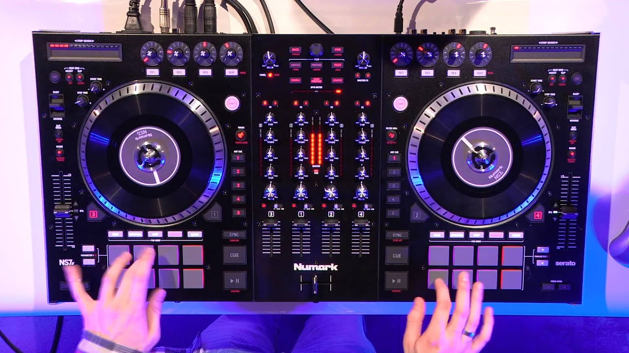 numark ns7ii avec dj m rode contr leur serato dj la. Black Bedroom Furniture Sets. Home Design Ideas