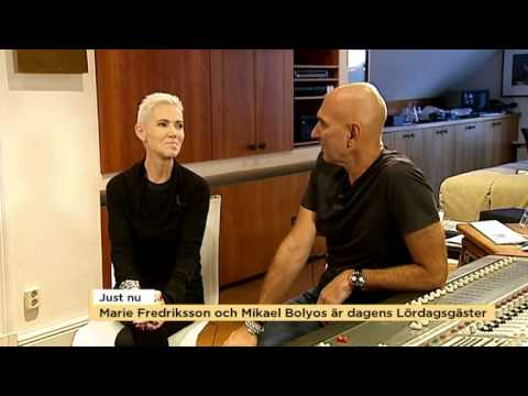 Marie Fredriksson and Mikael Bolyos  interviewTv4 2014