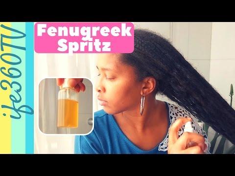 HOW TO MAKE FENUGREEK SPRITZ FOR HAIR GROWTH & HAIR LOSS   Natural Hair