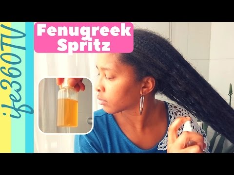HOW TO MAKE FENUGREEK SPRITZ FOR HAIR GROWTH & HAIR LOSS | Natural Hair