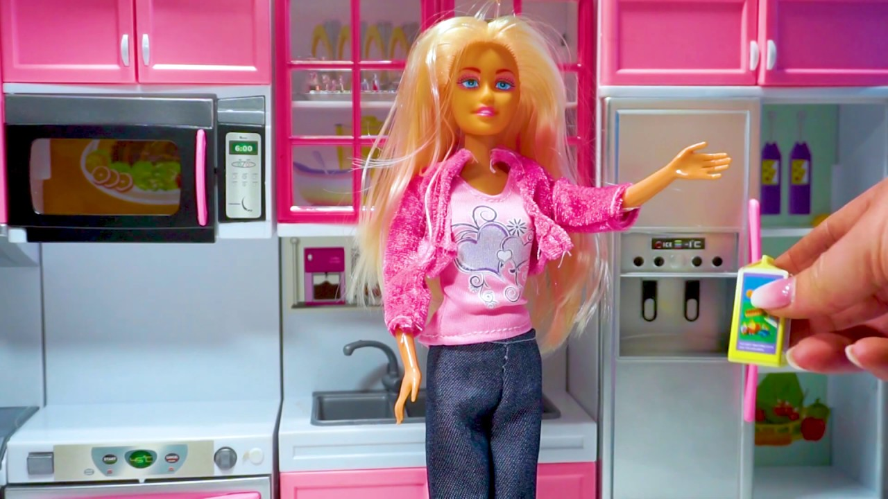 Mainan Masak Masakan Mainan Anak Dapur Barbie Masak Masakan Barbie Kitchen Set Youtube