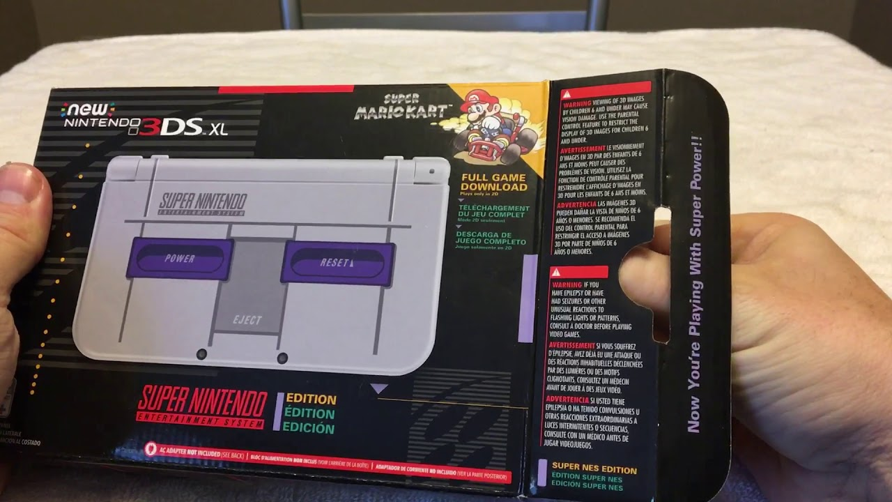 New Nintendo 3ds Xl Snes Sealed Unboxing Rare Comes With Mario