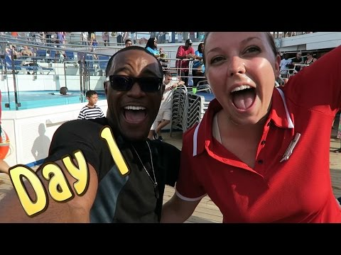 Carnival Conquest Day 1:  DECK PARTY & AIR GUITAR COMPETITION