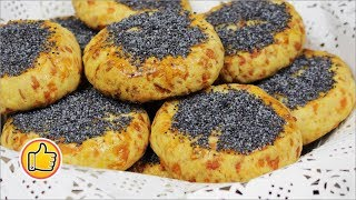 Сырное Печенье с Маком   Cheese Biscuits with Poppy-Seed