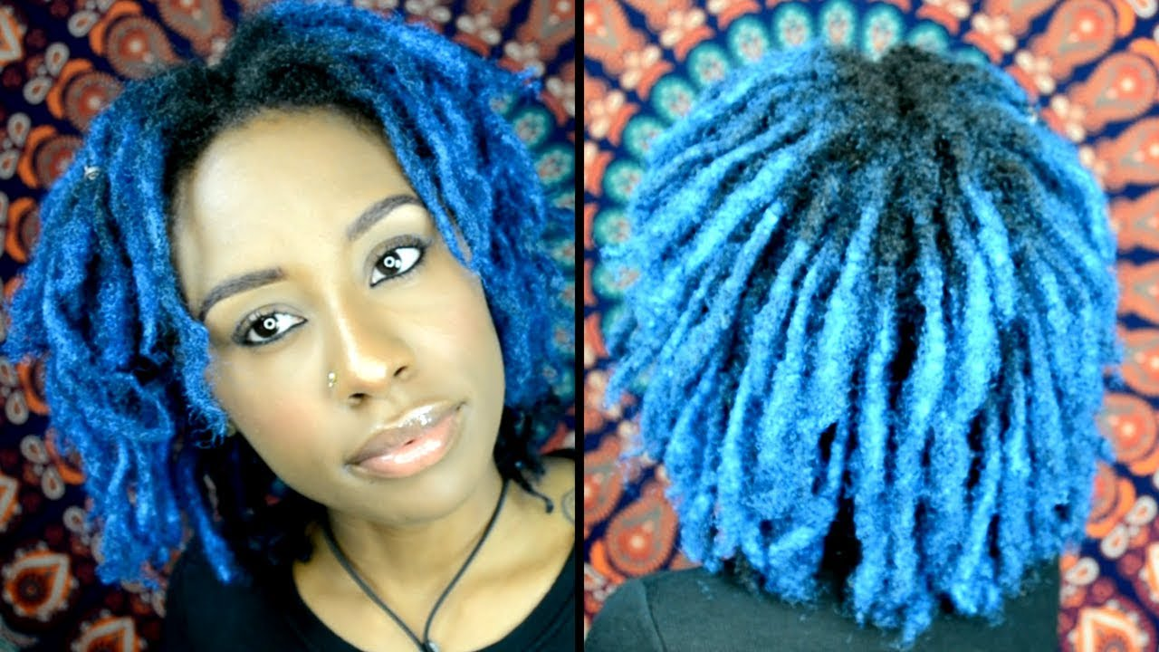 Blue Locs No Dye No Bleach How I Got Vibrant Blue Locs With No Chemicals Youtube