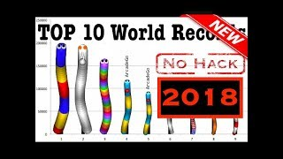 Slither.io | #1 - TOP 10 NEW World Records Ranking Hall Of Fame Compilation [No MOD No Hack No zoom]