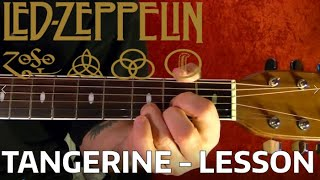 Tangerine - Led Zeppelin - Guitar Lesson WITH TABS