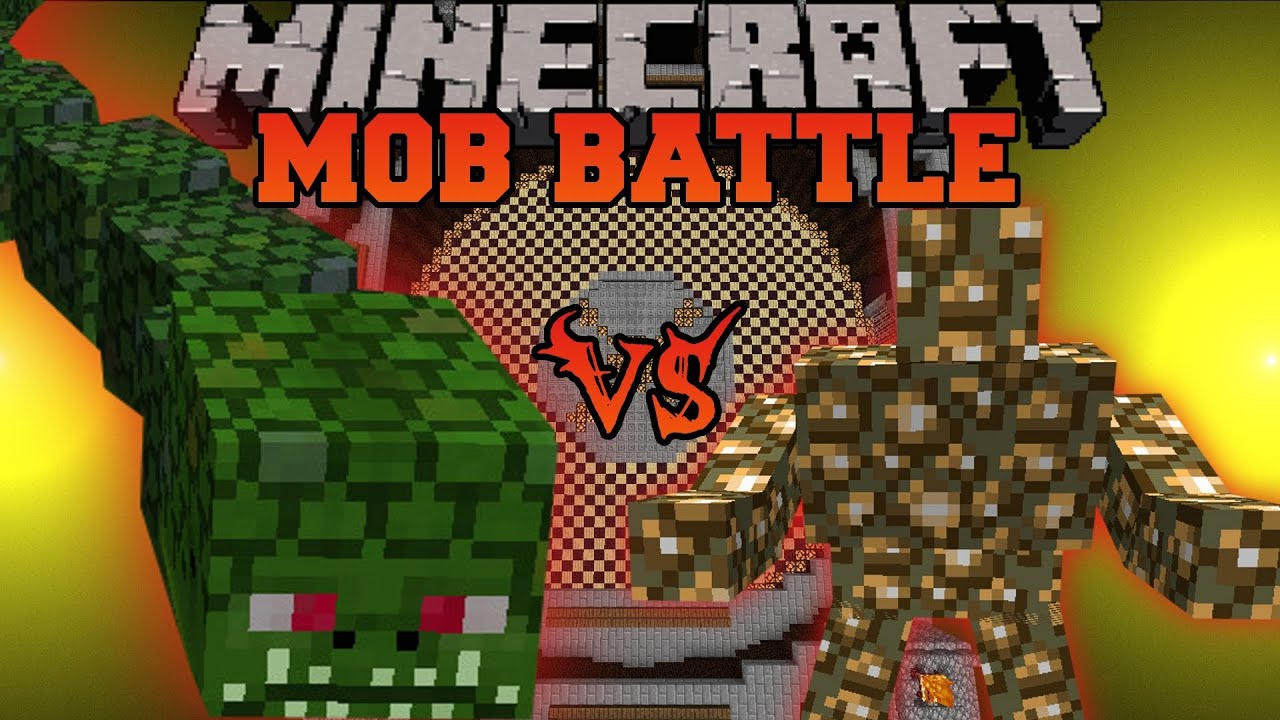 naga vs glowstone monster minecraft mob battles arena