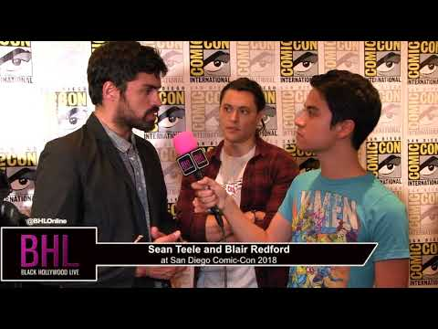 Sean Teele and Blair Redford The Gifted  San Diego ComicCon 2018