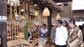 Peninjauan Indonesia International Furniture Expo 2019. Jakarta, 13 Maret 2019