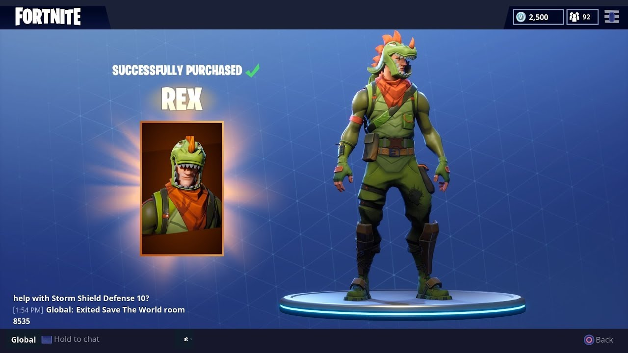 New Rex Outfit Gameplay Fortnite Battle Royale